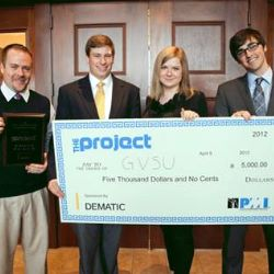 Matt McNamara, Iwona Gruszka and teammates at THE PROJECT 2012